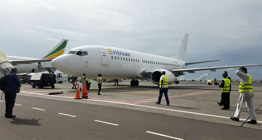Eritrean Airlines inaugural flight to Addis Ababa starts today.