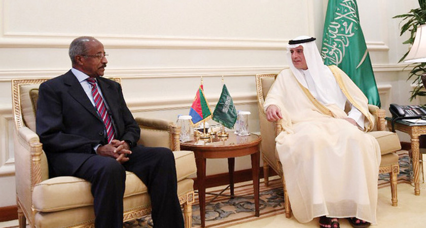 Saudi Arabia Foreign Minister receives his Eritrean counterpart Osman Saleh Mohammed in Jeddah