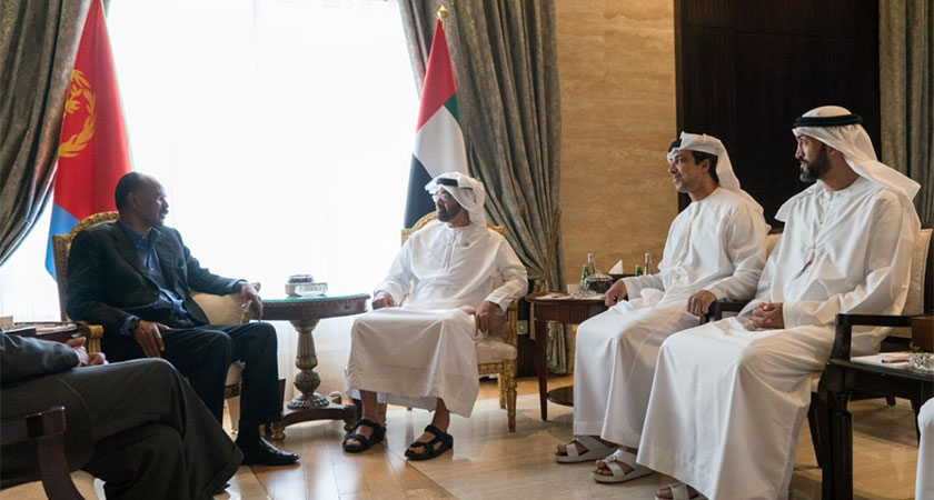 Crown Prince of Abu Dhabi welcomed President Isaias for talks in Abu Dhabi
