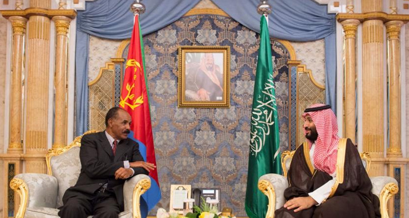 President Isaias and Crown Prince Mohammed bin Salman bin Abdulaziz meeting in Jeddah.