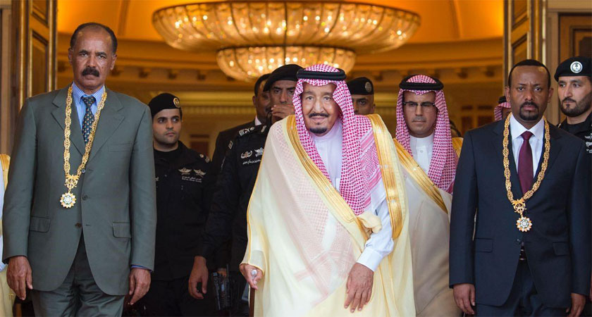 """President Isaias and Prime Minister Abiy have been honored Saudi Arabia's highest medal """"The Order of King Abdulaziz"""""""