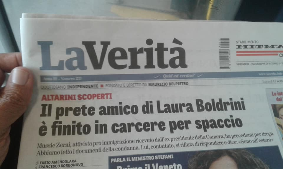 The Priest Friend of Laura Boldrini Incarcerated for Drug Dealing