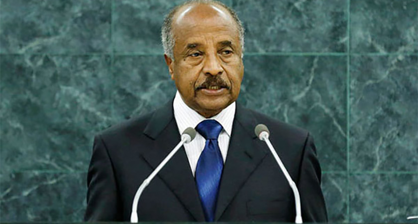 FM Osman Saleh called for sanction against Eritrea to be lifted and demanded compensation for the economic hardship