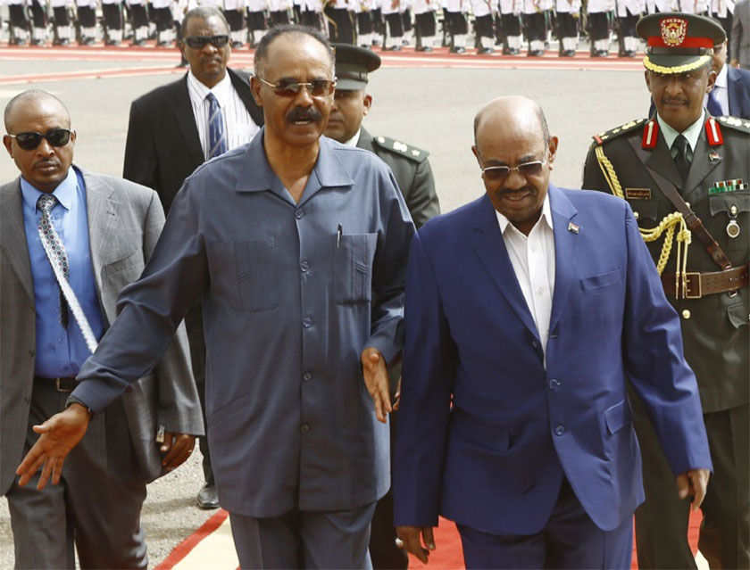 Sudan showing high interest to mend its relation with Eritrea.