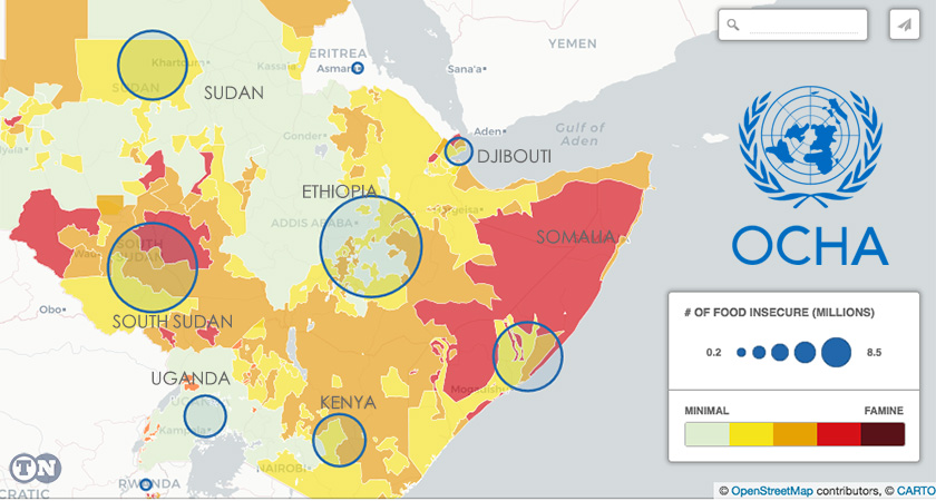 22.4 million people of Horn of Africa are food insecure and need food aid
