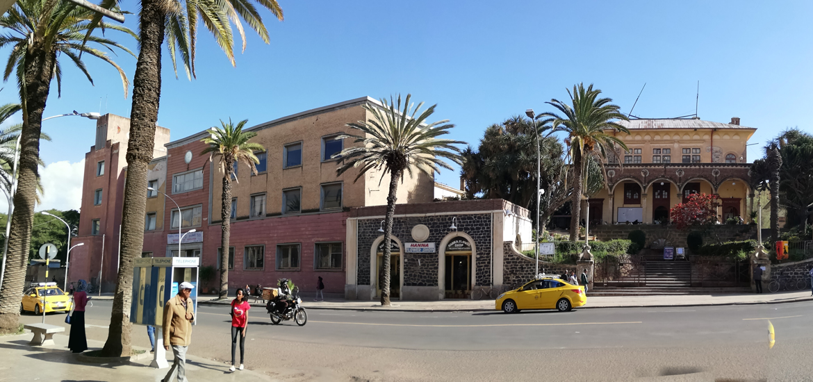View of UNESCO Heritage city of Asmara