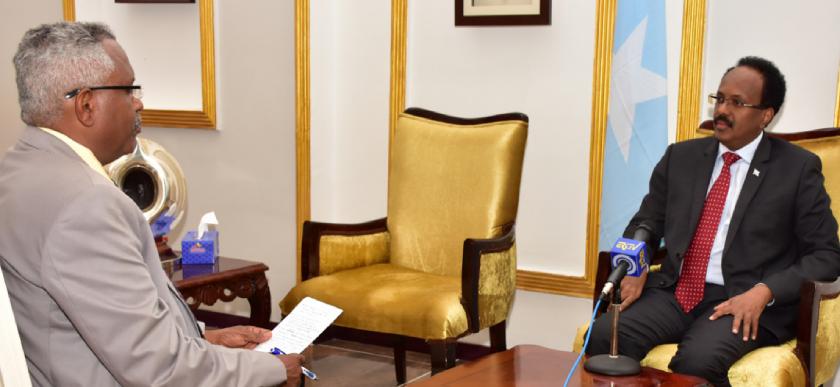 Eritrea Television interview with Somalia President Mohamed Abdullahi Mohamed
