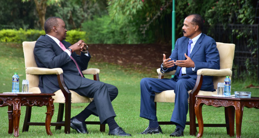President Isaias made an official visit to Kenya
