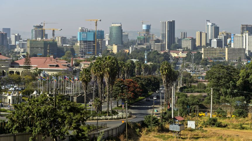 View of the skyline of Addis Ababa, Ethiopia
