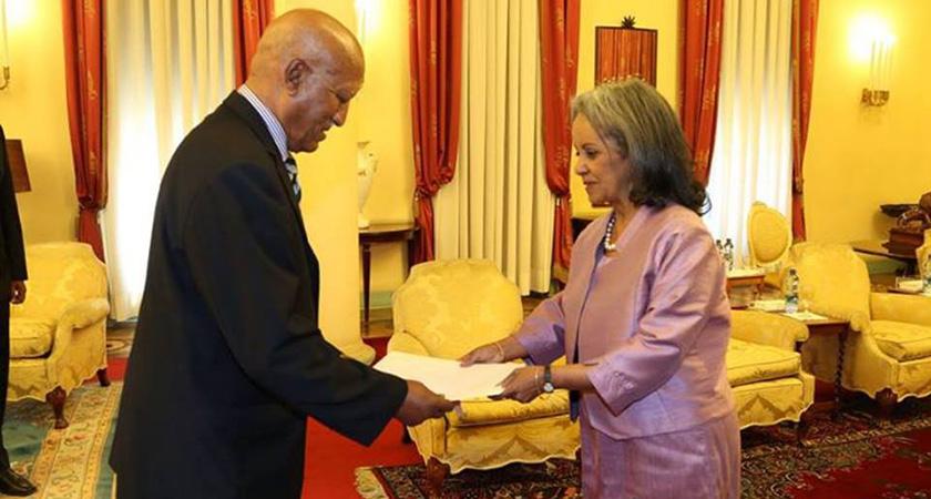 Ambassador Semere Russom Presents Credentials