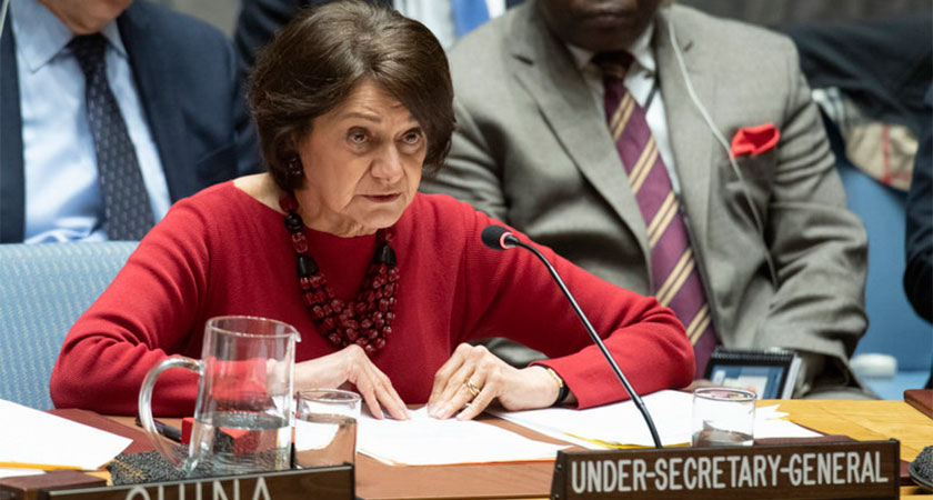 Under-Secertary-General Rosemary A. DiCarlo briefing the UN Security Council on Eritrea-Djibouti relation