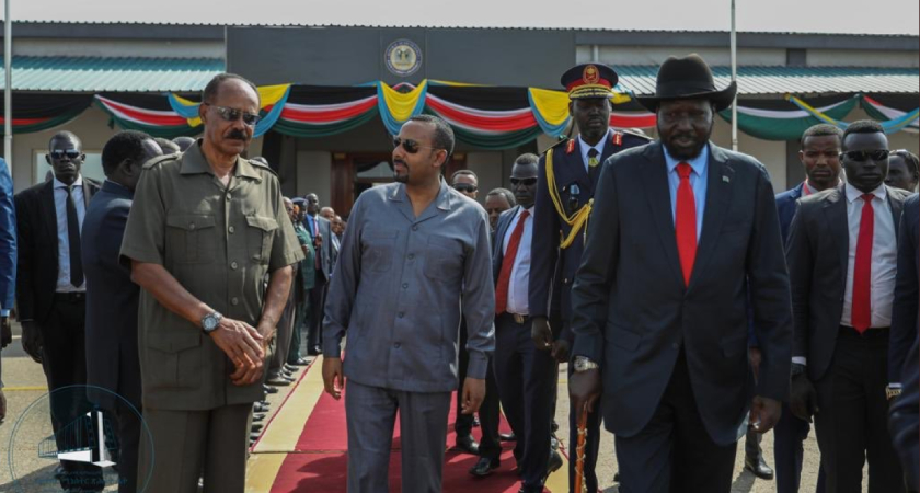PM Abiy and President Isaias for travelling to Juba to keep the flames of peace flickering, if not blazing.