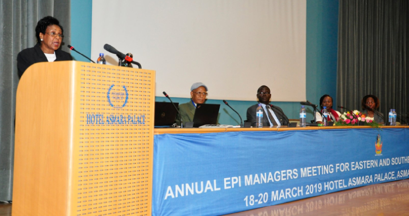 The annual WHO UNICEF Expanded Program for Immunization managers' meeting opened in Eritrea