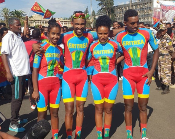 Eritrean riders who changed the outcome of the race by winning the last four GOLD medals of the day.