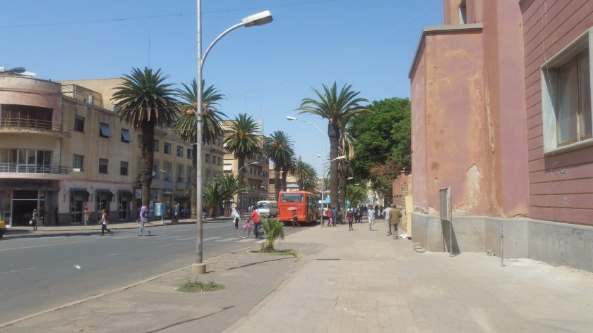 Outside the Education Ministry in Asmara.