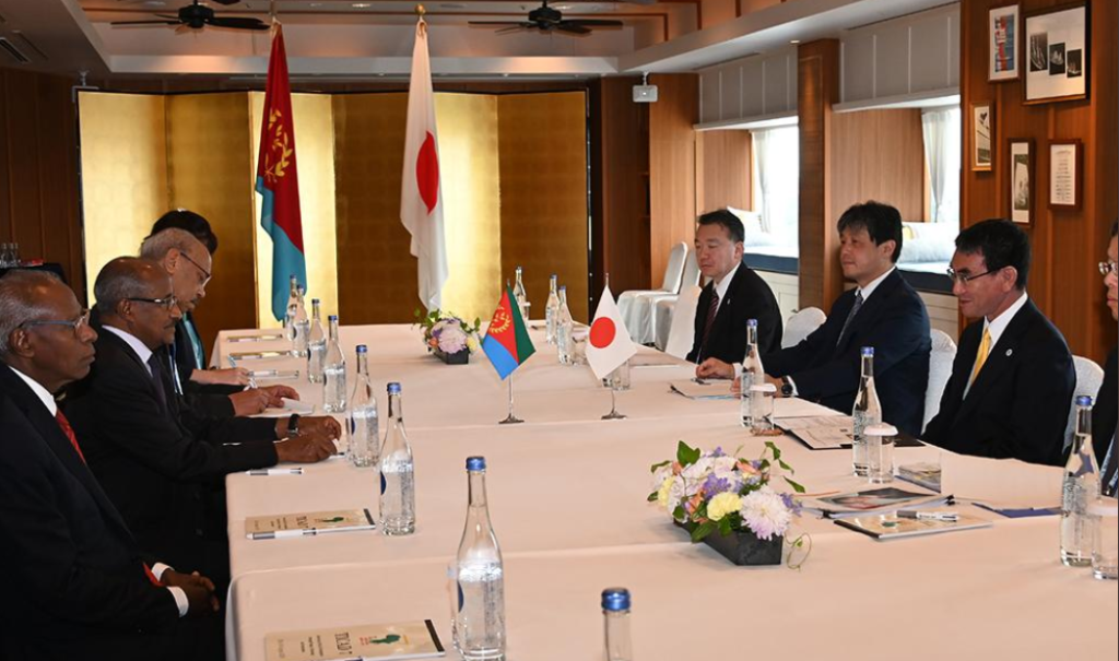 Eritrea's delegation met with Foreign Minister Kono on the margins of the TICAD 7 Summit.