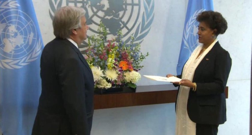 Sophia Tesfamariam, the new Permanent Representative of Eritrea to the United Nations