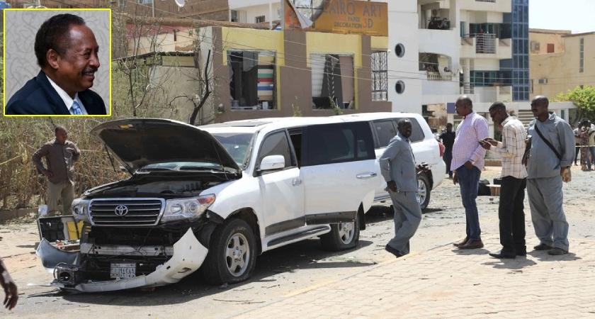 Sudan PM Abdalla Hamdok unharmed after blast targets his convoy in Khartoum