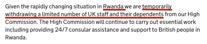 UK's FCO statement on Rwanda