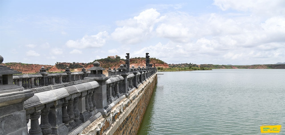 Misilam Dam holds 38 million cubic meter water