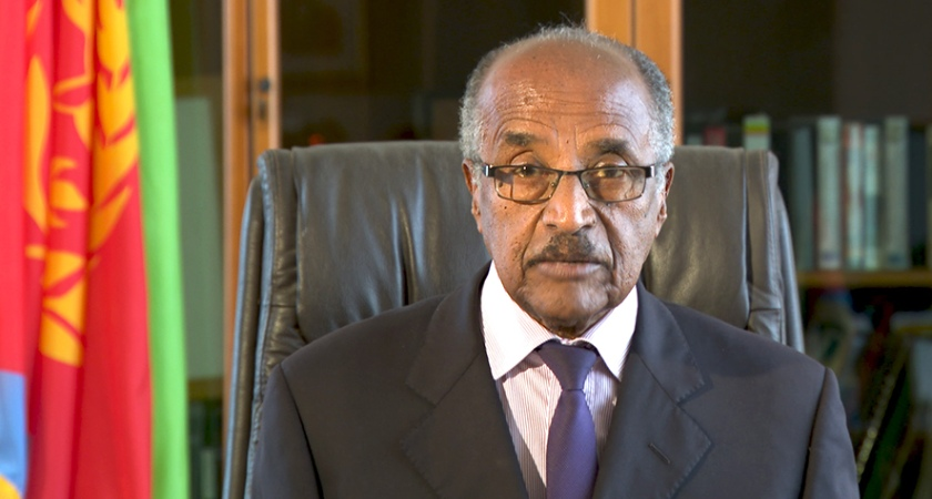 FM Osman Saleh delivers a speech (pre-recorded) at the 75th Sessions of the UN General Assembly