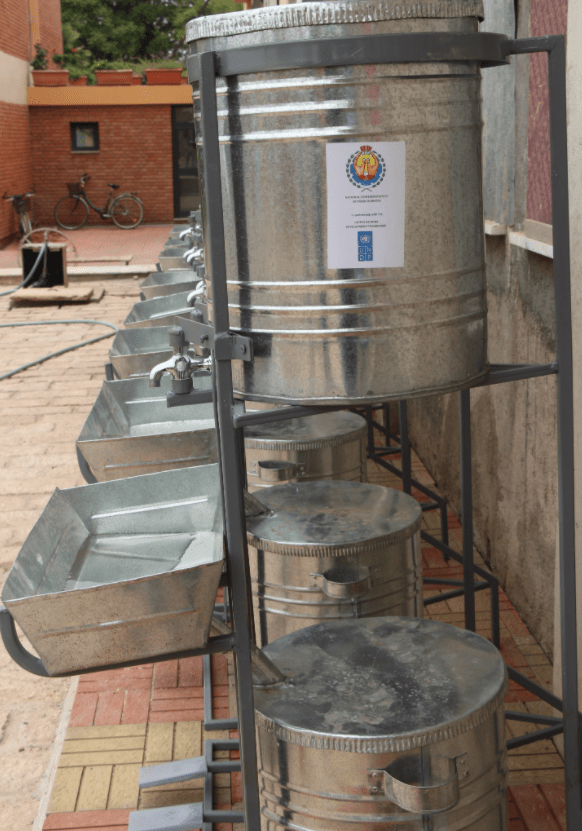 hand washing stands