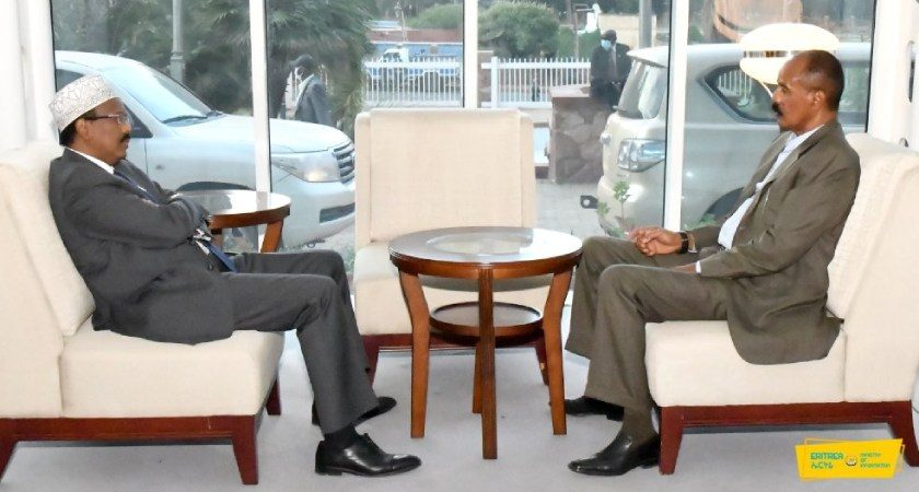 Somalia President Receives Warm Welcome in Eritrea