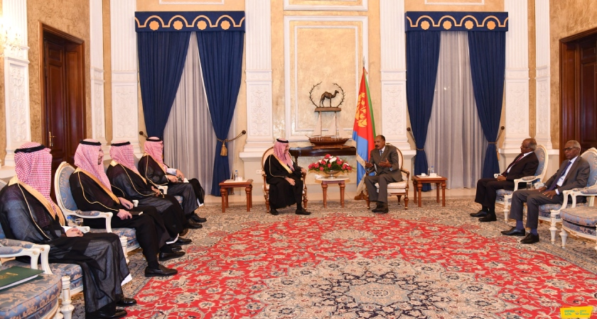 Saudi Arabia Foreign Minister and President Isaias met in Asmara