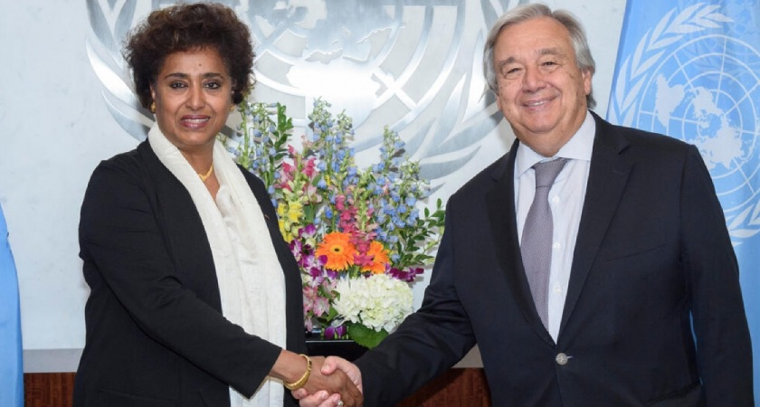 Ambassador Sophia Tesfamariam from Eritrea is one of a handful of African female Permanent Representatives to the UN in New York.